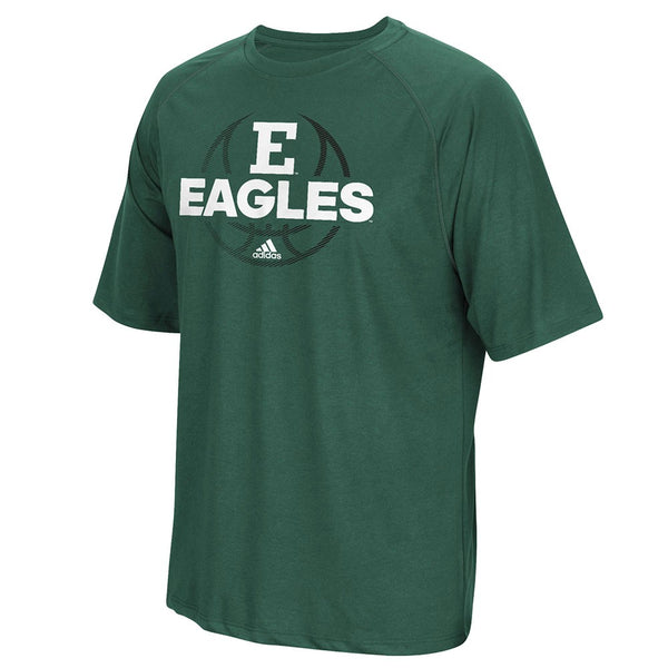 Eastern Michigan Bears NCAA Adidas Men Green Climalite Performance Shirt