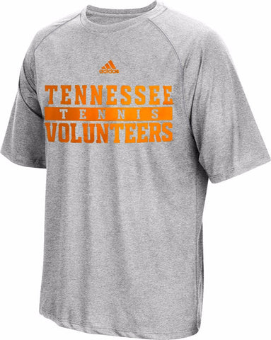 Tennessee Volunteers NCAA Adidas Men's Grey Climalite Performance Tennis T-Shirt