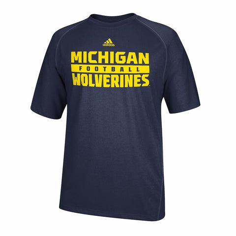 Michigan Wolverines NCAA Adidas Men's Navy Blue Climalite Performance T-Shirt