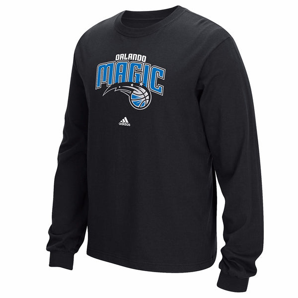 "Orlando Magic NBA Adidas Men's Black ""Primary Logo"" Long Sleeve T-Shirt"