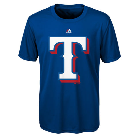 "Texas Rangers Majestic MLB Infant Blue ""Logo Tee"" T-Shirt"