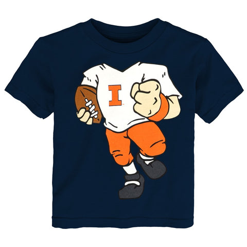 "Illinois Fighting Illini NCAA Infant Navy Blue ""Football Dreams"" Graphic T-Shirt"