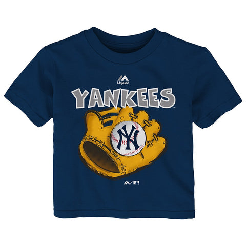 "New York Yankees Majestic MLB Infant Navy Blue ""Boy Baseball Mitt"" T-Shirt"
