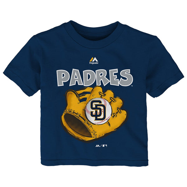 "San Diego Padres Majestic MLB Infant Navy Blue ""Boy Baseball Mitt"" T-Shirt"