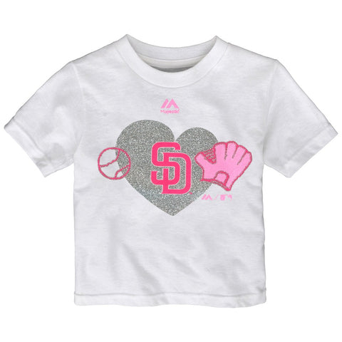 "San Diego Padres MLB Infant White ""Just Love"" Graphic T-Shirt"