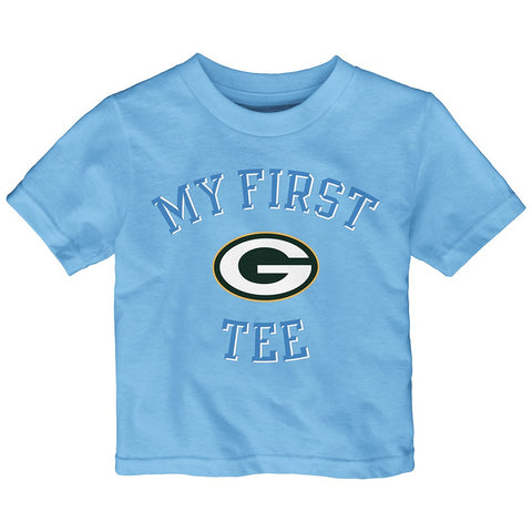 "Green Bay Packers Outerstuff NFL Infant Light Blue ""First Blue 2.0"" T-Shirt"