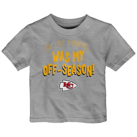 "Kansas City Chiefs NFL Infant Grey ""9 Month Break"" T-Shirt"