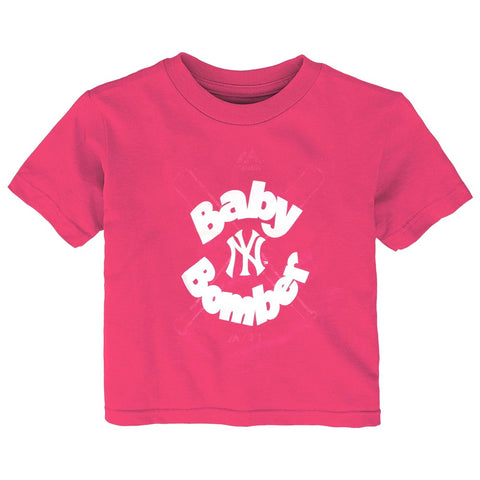 "New York Yankees Majestic MLB Infant Pink ""Baby Bomber"" Graphic T-Shirt"