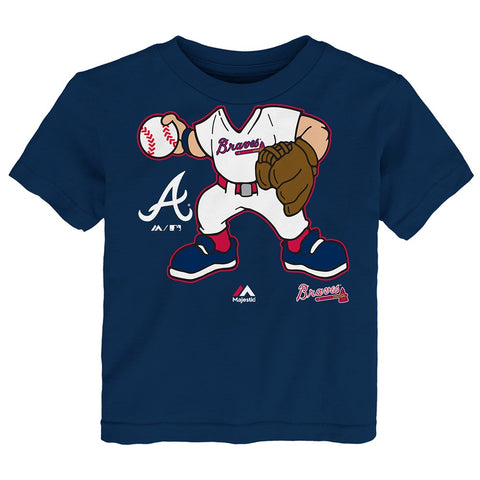 "Atlanta Braves MLB Infant Navy Blue ""Pint-Size Pitcher"" T-Shirt"