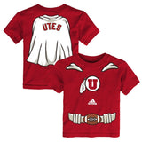 Utah Utes Adidas NCAA Infant Red Super Player Graphic T-Shirt