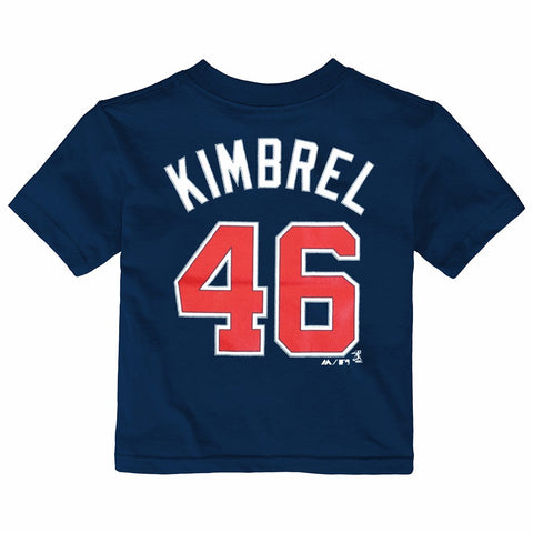 Craig Kimbrel Atlanta Braves MLB Infant Navy Faux Stitch Name & Number Shirt