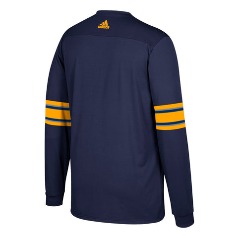 Buffalo Sabres NHL Adidas Men's Navy Blue Long Sleeve Replica Jersey T-Shirt
