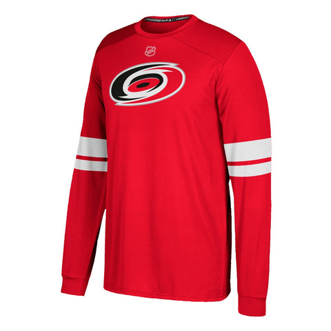 Carolina Hurricanes NHL Adidas Men's Red Long Sleeve Replica Jersey T-Shirt