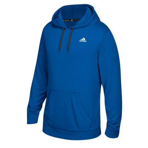 Adidas Men's Blue Badge Of Sport Logo Ultimate ClimaWarm Pullover Hoodie