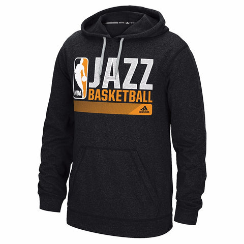 "Utah Jazz NBA Adidas Grey Ultimate Hood Climawarm ""Icon Status"" Graphic Hoodie"