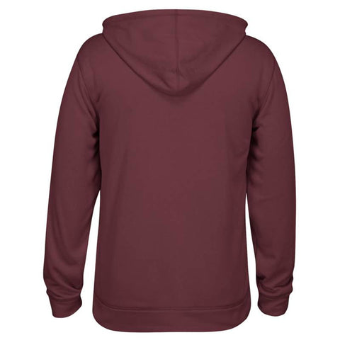 Adidas Men's Maroon Badge Of Sport Logo Ultimate ClimaWarm Pullover Hoodie