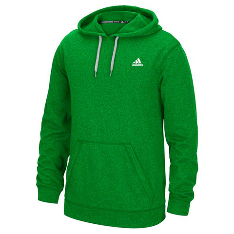 Adidas Men's Green Badge Of Sport Logo Ultimate ClimaWarm Pullover Hoodie