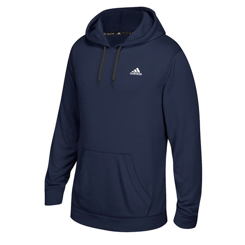 Adidas Men's Navy Blue Badge Of Sport Logo Ultimate ClimaWarm Pullover Hoodie