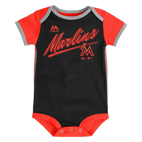 "Miami Marlins MLB Majestic Newborn ""Descendant"" 2 Piece Creeper Set"