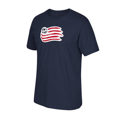 New England Revolution MLS Men's Primary Team Logo Navy Blue T-Shirt