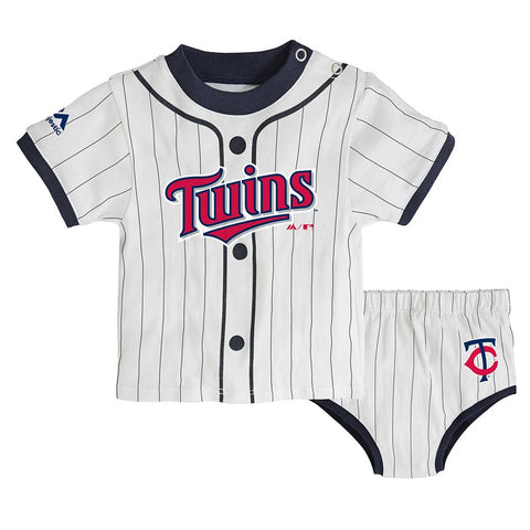 "Minnesota Twins MLB Newborn's White ""MVP"" Long Sleeve Shirt & Pants Set"