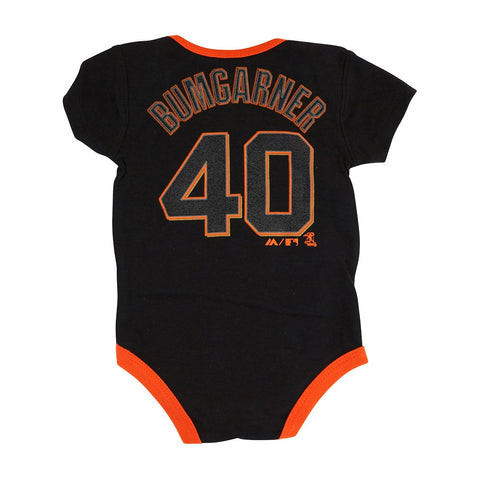 Madison Bumgarner San Francisco Giants MLB Majestic Infant 3 Piece Creeper Set