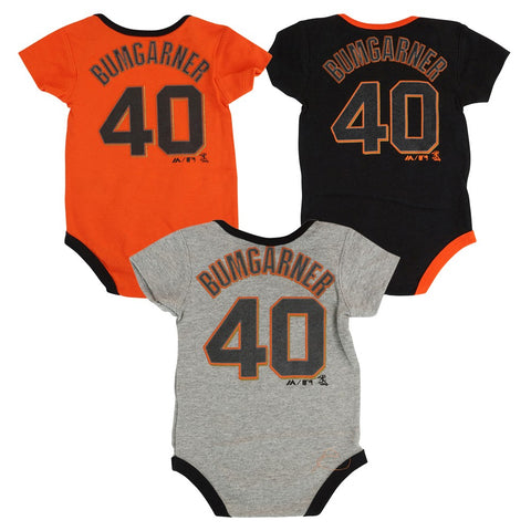 Madison Bumgarner San Francisco Giants MLB Majestic Newborn 3 Piece Creeper Set