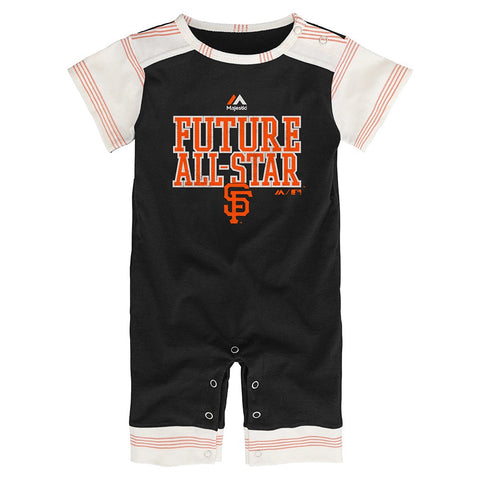 "San Francisco Giants MLB Majestic Newborn Black ""I'm An All Star"" Romper"