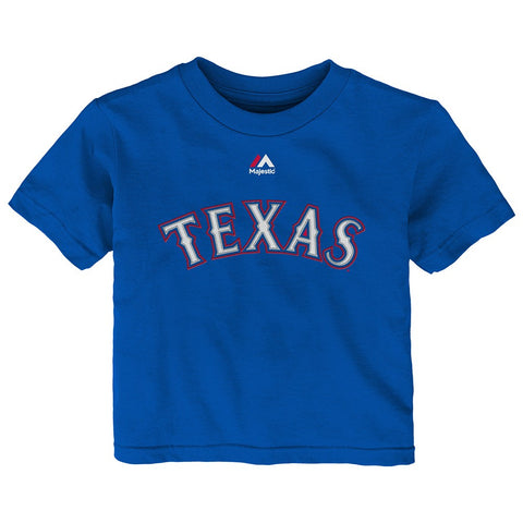 Yu Darvish MLB Majestic Texas Rangers Alt Jersey Blue T-Shirt Infant (12M-24M)