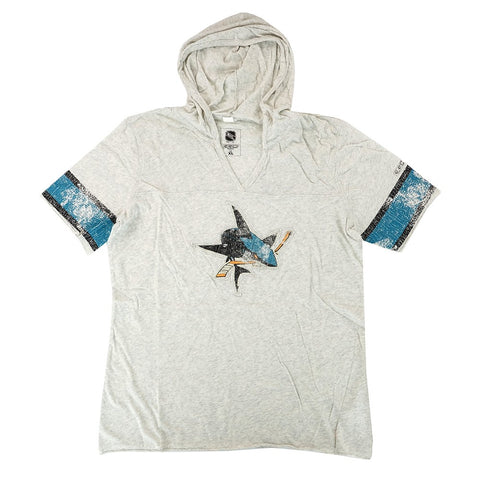 San Jose Sharks CCM Classics NHL Team Vintage Distressed Hooded T-Shirt Women's