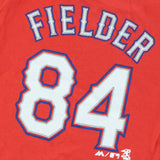 Prince Fielder Texas Rangers MLB Infant Red Faux Stitch Name & Number Shirt