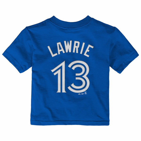 Brett Lawrie Toronto Blue Jays MLB Infant Blue Faux Stitch Name & Number Shirt