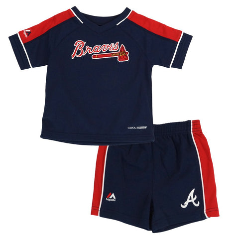 Atlanta Braves MLB Cool Base Performance T-Shirt & Shorts Set Infant (12M-24M)