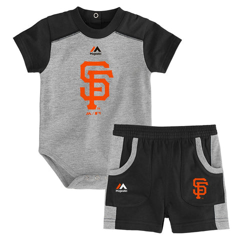 "San Francisco Giants MLB ""Double Header"" Creeper & Shorts Set Infant (12M-24M)"