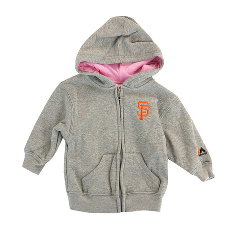 San Francisco Giants MLB Majestic Infant Grey Full Zip Hooded Jacket
