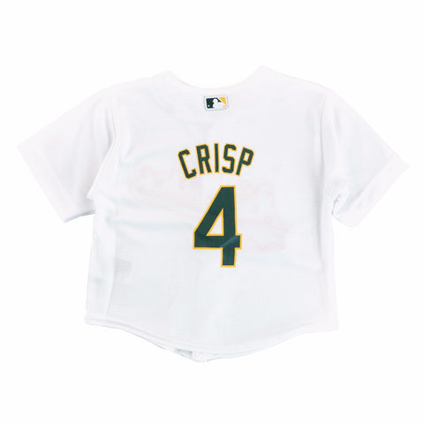 Coco Crisp Oakland Athletic MLB Majestic Infant's White Cool Base Home Jersey