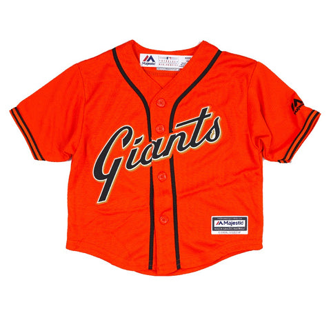 San Francisco Giants MLB Majestic Infant's Orange Official Alt Cool Base Jersey