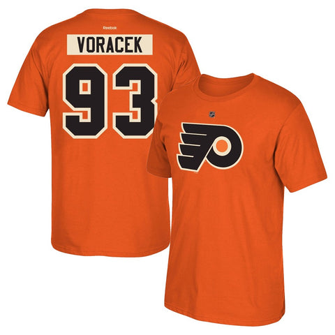 Jakub Voracek Reebok Philadelphia Flyers Premier N&N Orange Jersey T-Shirt Men's