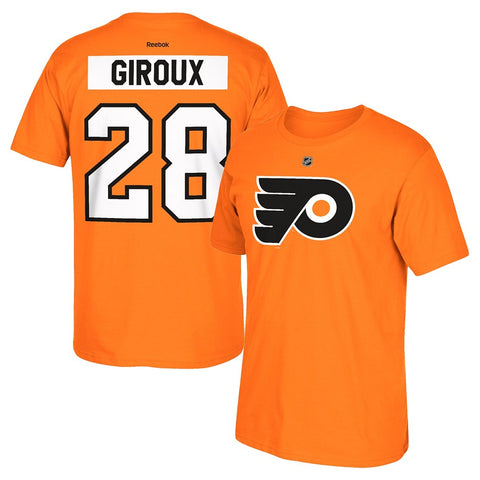 Claude Giroux Reebok Philadelphia Flyers Premier N&N Orange Jersey T-Shirt Men's