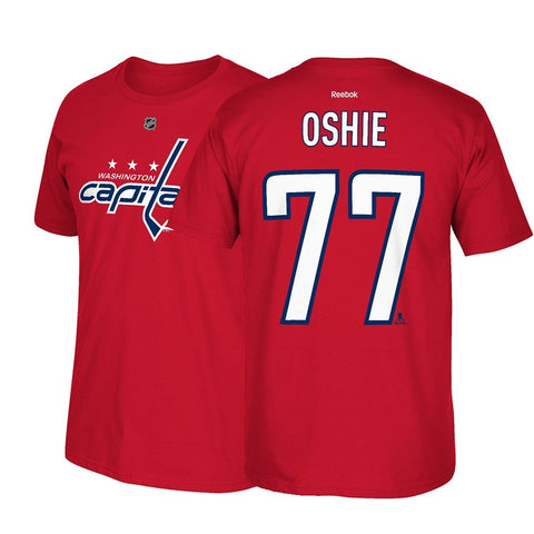 T.J. Oshie Washington Capitals Reebok NHL Men's Red Name & Number Jersey T-Shirt