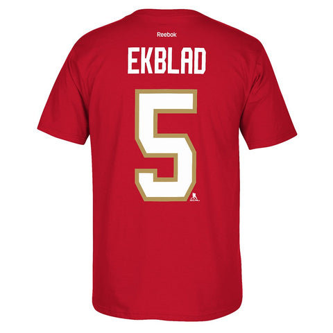 Aaron Ekblad Reebok Florida Panthers Player Premier Red Jersey T-Shirt Men's