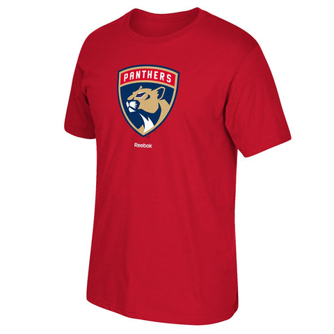Florida Panthers Reebok 'Jersey Crest' Primary Team Logo Red T-Shirt Men's