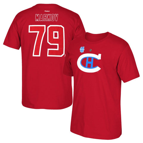 Andrei Markov Reebok Montreal Canadiens 2016 Winter Classic Jersey T-Shirt Men's