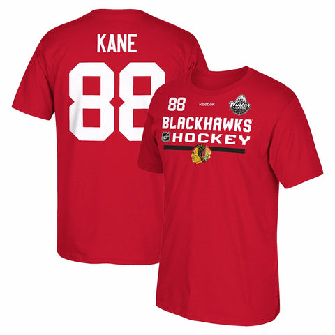 Patrick Kane Reebok Chicago Blackhawks 2017 Winter Classic Jersey T-Shirt Men's