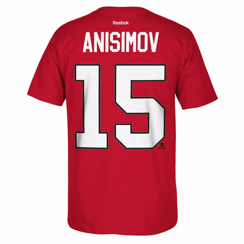 Arem Anisimov Reebok Chicago Blackhawks Premier Jersey Red T-Shirt Men's