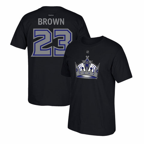 Dustin Brown Reebok Los Angeles Kings Premier N&N Black Jersey T-Shirt Men's