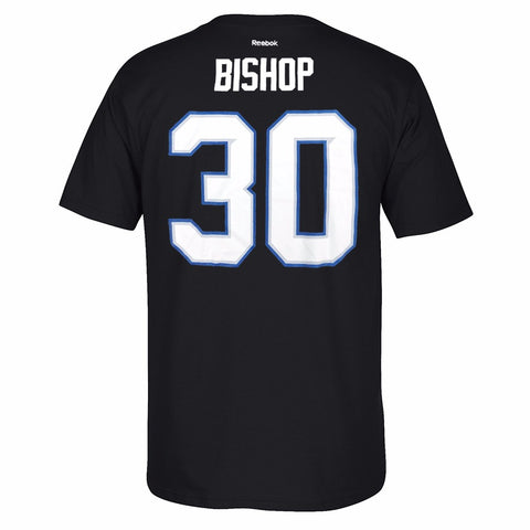 Ben Bishop Tampa Bay Lightning NHL Reebok Black Name & Number Jersey T-Shirt