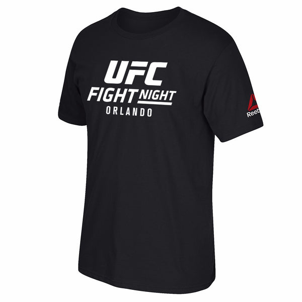 UFC Reebok Black Fight Night @ Orlando Event Graphic Print T-Shirt