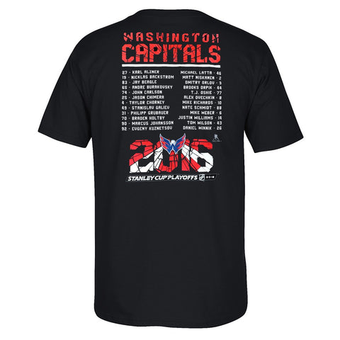 "2016 Washington Capitals Reebok ""Shattered Roster"" Playoff T-Shirt Men's"