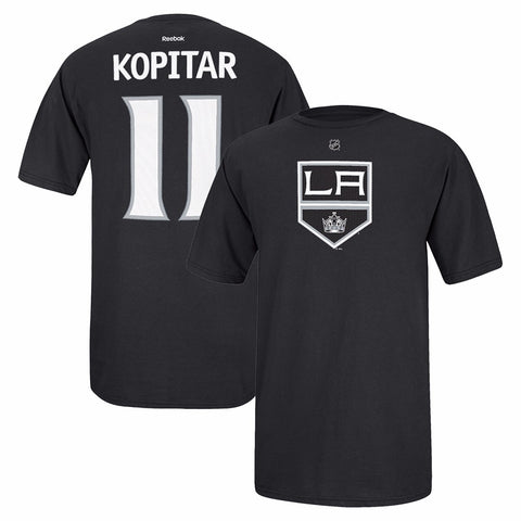 Anze Kopitar Reebok Los Angeles Kings Player Premier Black Jersey T-Shirt Men's